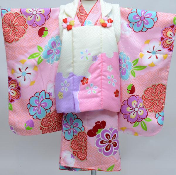 七五三 3才 3歳 三才 三歳 女児 女の子 被布着物祝着フルセット 式部浪漫 生地は日本製 ポリエステル 新品(株)安田屋j471656602