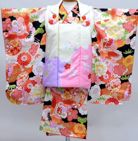 七五三 3才 3歳 三才 三歳 女児 女の子 被布着物祝着フルセット 式部浪漫 生地は日本製 ポリエステル 新品(株)安田屋j471656586