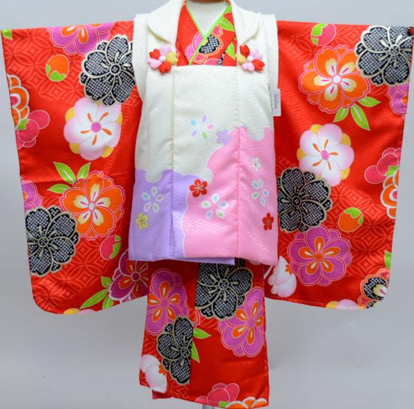 七五三 3才 3歳 三才 三歳 女児 女の子 被布着物祝着フルセット 式部浪漫 生地は日本製 ポリエステル 新品(株)安田屋j471656590