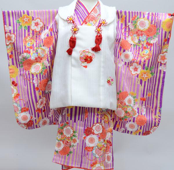 七五三 3才 3歳 三才 三歳 正絹 女児 女の子 被布着物祝着フルセット 日本製 式部浪漫 古典柄 新品(株)安田屋n249885485