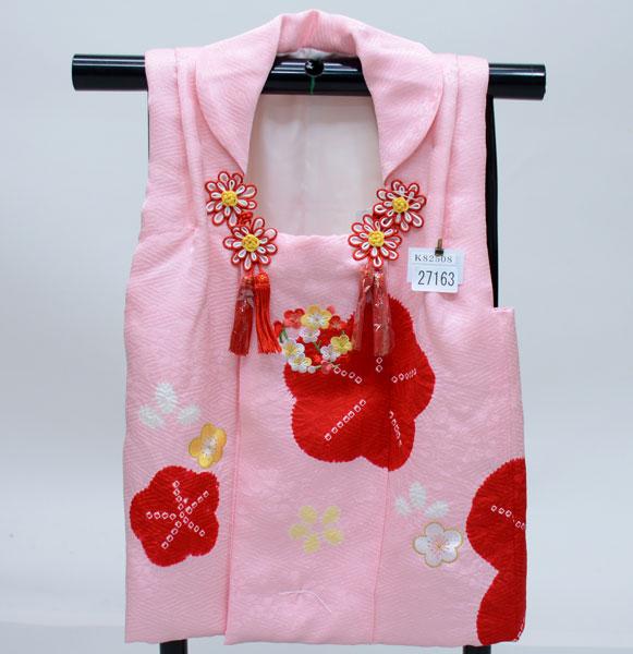 5f77255ca16bb 七五三 3歳 3才 三歳 三才 正絹 絞り 刺繍入り 被布コート 縫製と染め ...