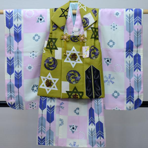 七五三 3歳 3才 三歳 三才 男の子 三歳 男児 被布着物フルセット 日本製 新品(株)安田屋 239762803