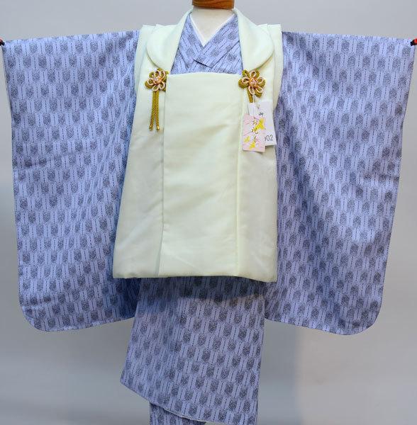 七五三 3歳 3才 三歳 三才 男の子 男児 被布 着物フルセット 生地は日本製 縫製海外 新品(株)安田屋 u259910947