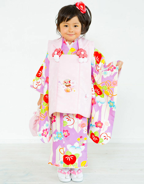 七五三 3歳 3才 三歳 三才 女児 女の子 被布着物祝着フルセット 半衿足袋付 小町 2017年モデル 新品(株)安田屋 v513874231
