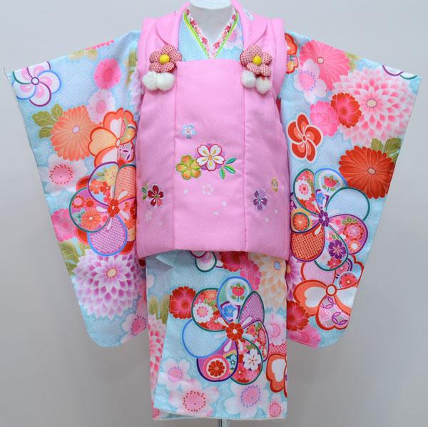 七五三 3歳 3才 三歳 三才 女児 女の子 被布着物祝着フルセット 半衿縫付け済み 陽気な天使 新品 (株)安田屋 r205132899