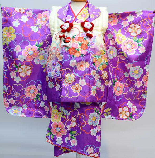 七五三 3才 3歳 三才 三歳 女児 女の子 被布着物祝着フルセット 日本製 合繊 新品(株)安田屋u212942320