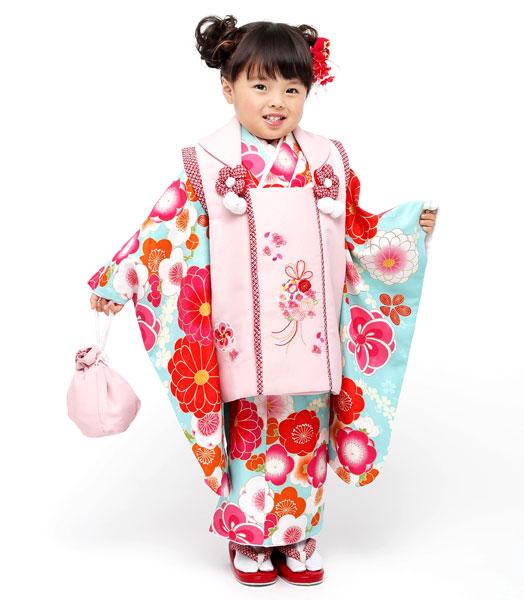 七五三 3歳 3才 三歳 三才 女児 女の子 被布着物祝着フルセット 半衿足袋付 小町 2018年モデル 新品(株)安田屋 t585116265