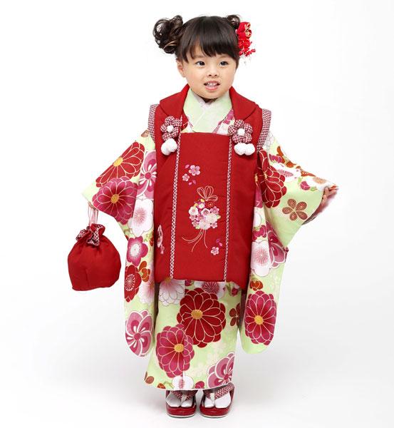 七五三 3歳 3才 三歳 三才 女児 女の子 被布着物祝着フルセット 半衿足袋付 小町 2018年モデル 新品(株)安田屋 q232853206