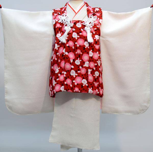 七五三 3才 3歳 三才 三歳 女児 女の子 被布着物祝着フルセット 日本製 着物は白無地 新品(株)安田屋 n289656331
