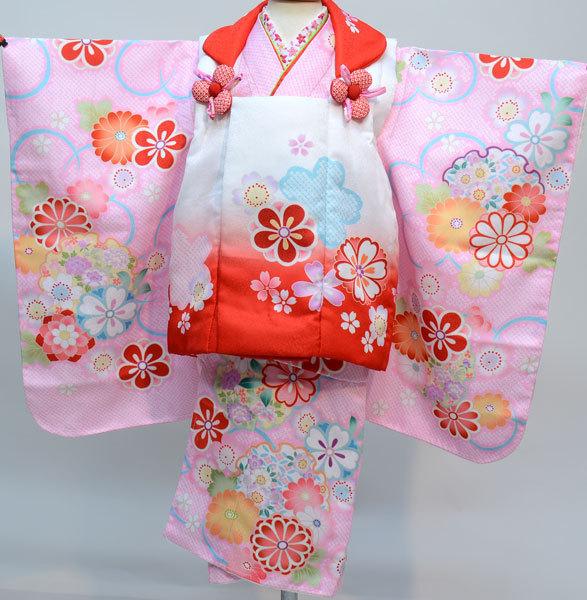 七五三 3歳 3才 三歳 三才 女児 女の子 被布 着物 祝着フルセット 半衿縫付け済み 陽気な天使 新品 (株)安田屋 f297274560