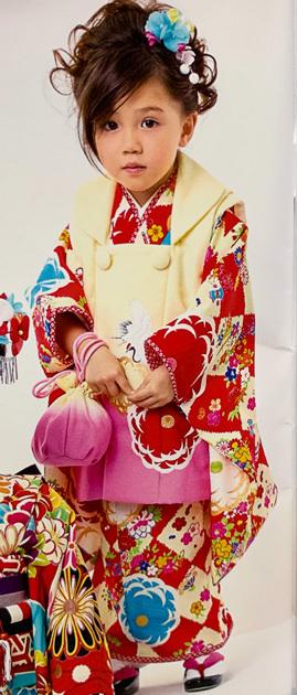 七五三 3歳 3才 三歳 三才 女児 女の子 被布 着物フルセット 祝着 日本製 高橋大輔×JAPAN STYLE 新品 (株)安田屋 g315679989