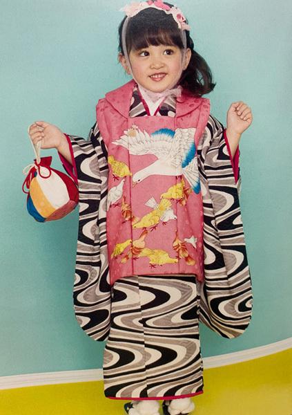 七五三 3歳 3才 三歳 三才 女児 女の子 被布 着物フルセット 祝着 日本製 modern antenna モダン アンテナ 新品 (株)安田屋 n312180656