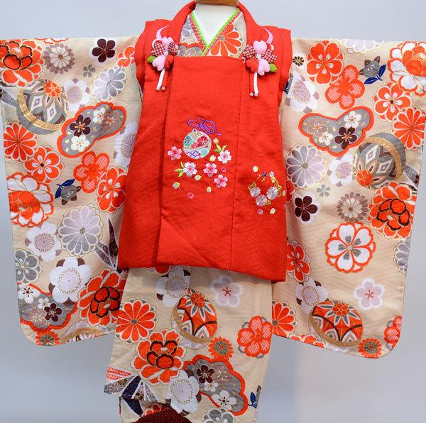 七五三 3才 3歳 三才 三歳 女児 女の子 被布着物祝着フルセット 日本製 式部浪漫 ポリエステル 新品(株)安田屋360082230