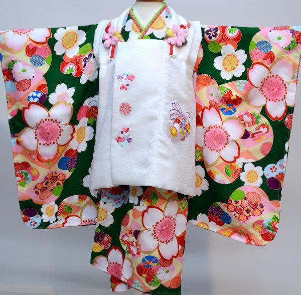 七五三 3才 3歳 三才 三歳 女児 女の子 被布着物祝着フルセット 日本製 式部浪漫 ポリエステル 新品(株)安田屋c730763462