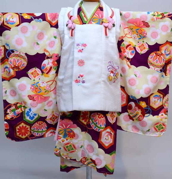 七五三 3才 3歳 三才 三歳 女児 女の子 被布着物祝着フルセット 日本製 式部浪漫 ポリエステル 新品(株)安田屋k369158503