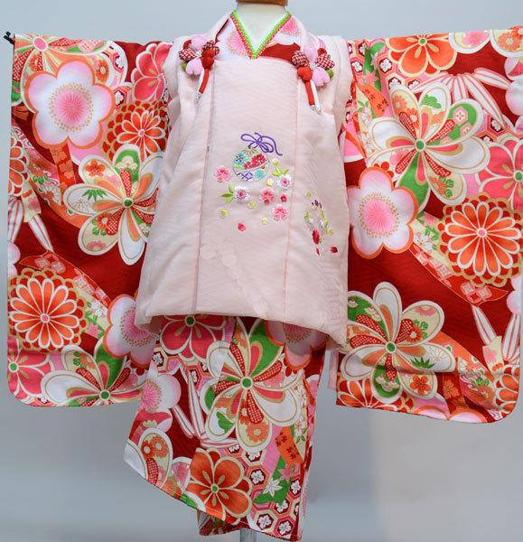 七五三 3才 3歳 三才 三歳 女児 女の子 被布着物祝着フルセット 日本製 式部浪漫 ポリエステル 新品(株)安田屋q273495125