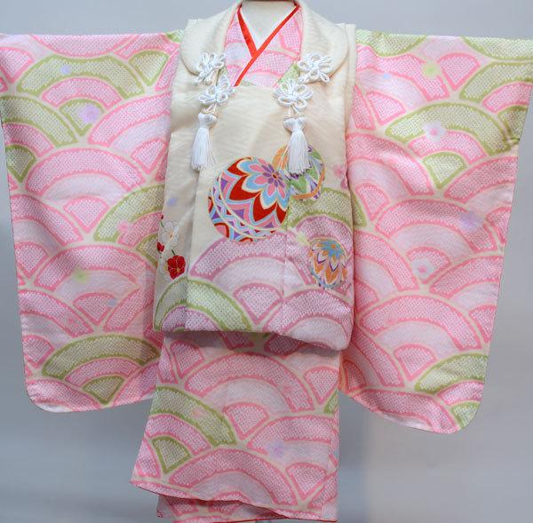 七五三 3才 3歳 三才 三歳 女児 女の子 被布着物祝着フルセット 日本製 式部浪漫 ポリエステル 新品(株)安田屋p669875487