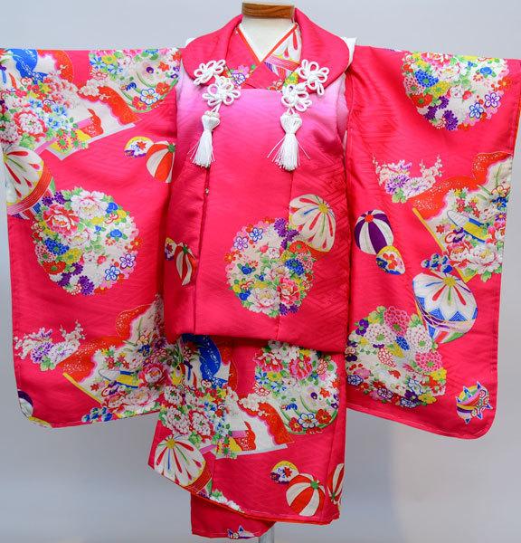 七五三 3才 3歳 三才 三歳 女児 女の子 被布着物祝着フルセット 日本製 式部浪漫 ポリエステル 新品(株)安田屋l507686755