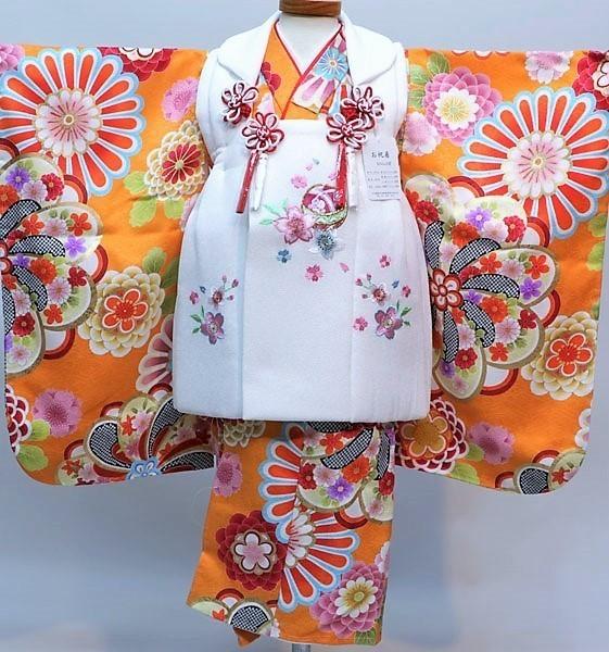 七五三 3才 3歳 三才 三歳 女児 女の子 被布 着物フルセット 祝着 被布と着物生地は日本製 染め加工日本 縫製と長襦袢は海外 新品(株)安田屋 k374295156