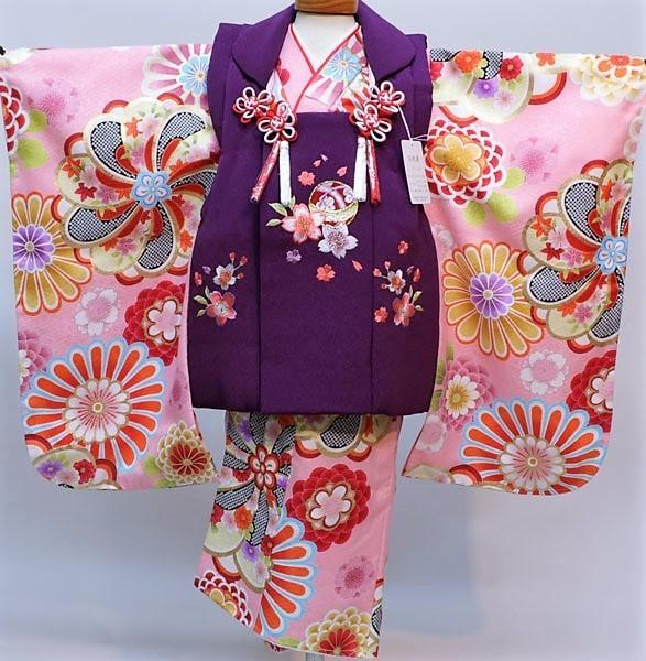 七五三 3才 3歳 三才 三歳 女児 女の子 被布 着物フルセット 祝着 被布と着物生地は日本製 染め加工日本 縫製と長襦袢は海外 新品(株)安田屋 d351377033