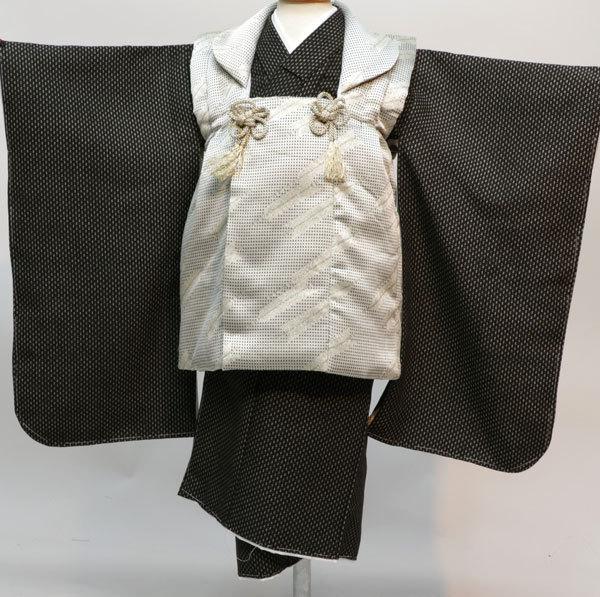 七五三 3歳 3才 三歳 三才 男の子 男児 被布 着物フルセット 生地は日本製 おりびと 新品(株)安田屋 s660605053