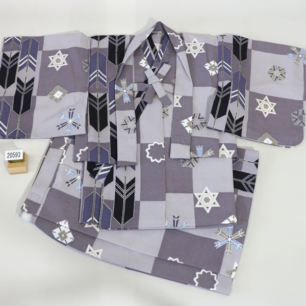 一つ身 二部式 羽織着物セット ベビー用 男児用 新品 (株)安田屋 v448135561