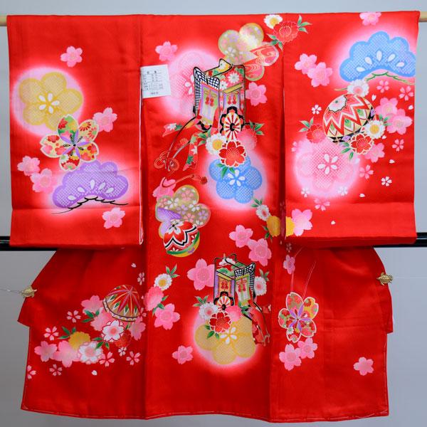 お宮参り産着 女児 女の子 正絹 のしめ 祝着 着物 一つ身 初着 綸子 新品 (株)安田屋 t468715261