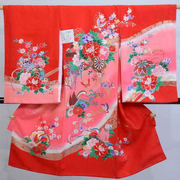 お宮参り産着 正絹 女児 女の子 一つ身 のしめ 祝着 着物 羽二重 新品(株)安田屋 b334259802