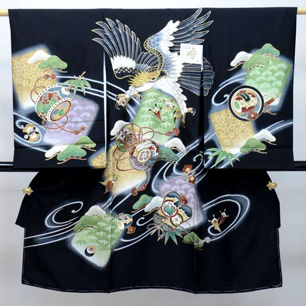 お宮参り産着 男児 男の子 正絹 のしめ 着物 祝着 初着 一つ身 羽二重 新品 (株)安田屋 l371229889