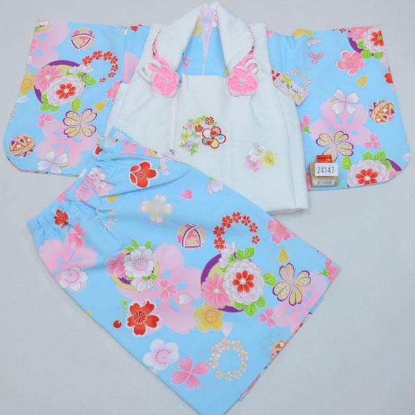 一つ身 二部式 被布着物セット ベビー用 女児 女の子 ポリエステル100% 新品(株)安田屋 l380650504