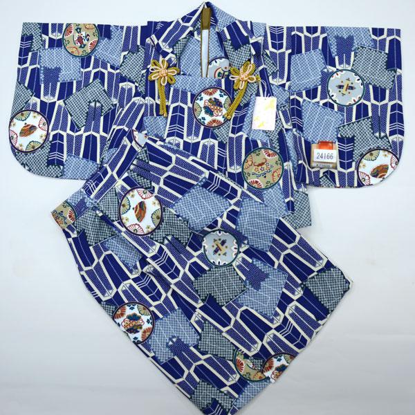 一つ身 二部式 被布着物セット ベビー用 男児 男の子 ポリエステル100% 新品(株)安田屋 h255215516