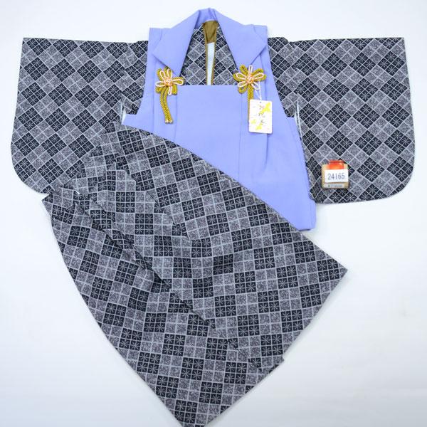 一つ身 二部式 被布着物セット ベビー用 男児 男の子 ポリエステル100% 新品(株)安田屋 h255215512