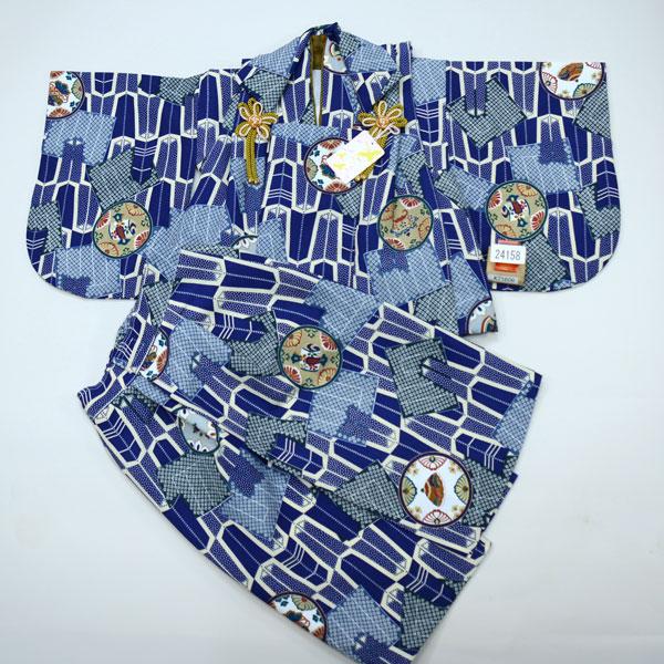 一つ身 二部式 被布着物セット ベビー用 男児 男の子 ポリエステル100% 新品(株)安田屋 h255215484