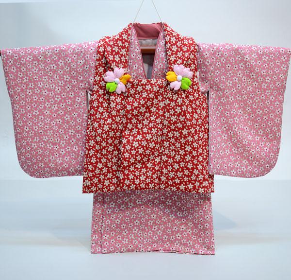 一つ身 二部式 被布着物セット 日本製 ベビー用 女児 女の子 ちりめん風合い ポリエステル100% 新品(株)安田屋 l463525831