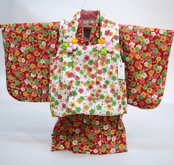 一つ身 二部式 被布着物セット 日本製 ベビー用 女児 女の子 ちりめん風合い ポリエステル100% 新品(株)安田屋 l463525803