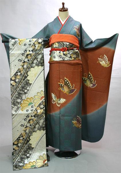 振袖フルセット 正絹 着物 古典柄 7日間レンタル 小物まですべて揃う20点一式(株)安田屋 c803293541