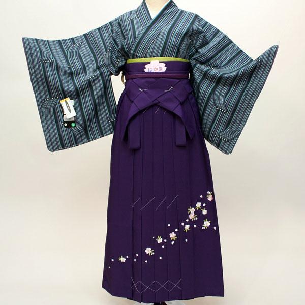 着物袴フルセット 小紋 7日レンタル 卒業式に 新品 (株)安田屋 c726769985