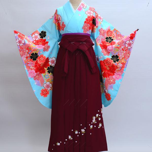 着物袴セット ジュニア用へ直し144cm~150cm 絵羽柄 綸子卒業式にどうぞ! 新品 (株)安田屋 r133575999