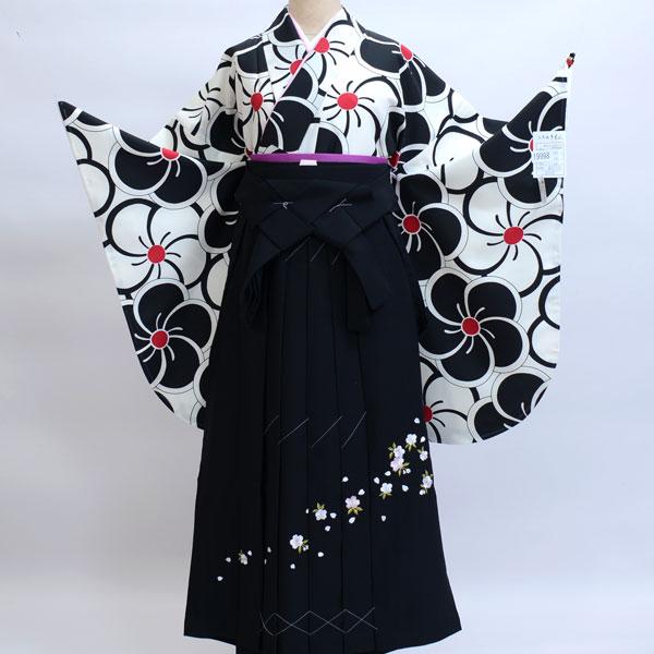 着物袴セット ジュニア用へ直し144cm~150cm 着物生地は日本製 縫製と袴は海外 新品(株)安田屋 n243438792