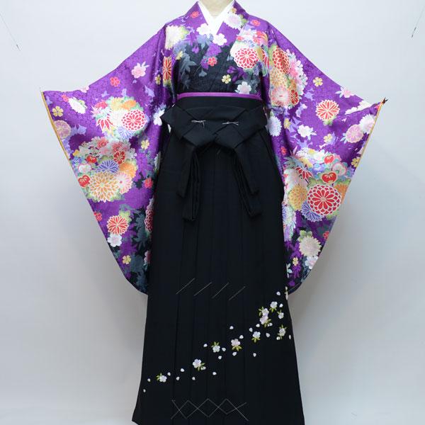 着物袴セット ジュニア用 145cm~154cm 着物生地:日本製 A-STYLE 卒業式にどうぞ! 新品 (株)安田屋 n180811988