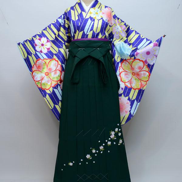 着物袴セット ジュニア用 145cm~154cm 着物生地:日本製 A-STYLE 卒業式にどうぞ! 新品 (株)安田屋 n180811968