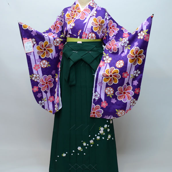 着物袴セット ジュニア用へ直し135cm~143cm 豪華絢爛 卒業式にどうぞ! 新品 (株)安田屋 b219199282