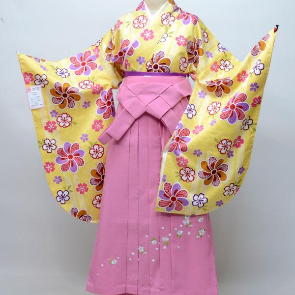 着物袴セット ジュニア用へ直し135cm~143cm 豪華絢爛 卒業式にどうぞ! 新品 (株)安田屋 v469826837