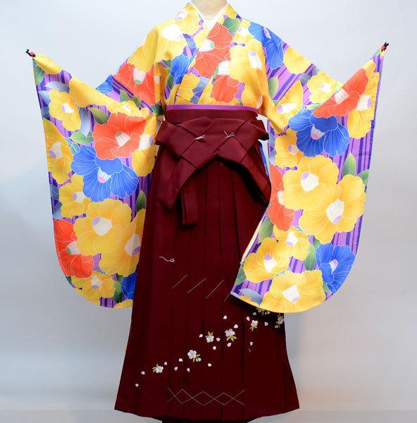 着物袴セット ジュニア用へ直し135cm~143cm 千紫万紅 新品(株)安田屋 u239138531
