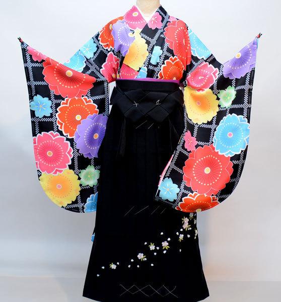 着物袴セット ジュニア用へ直し144cm~150cm 千紫万紅 新品(株)安田屋 d324294674