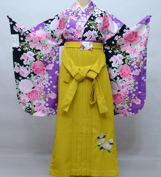 二尺袖 着物袴 フルセット 百花繚乱 卒業式に 新品 (株)安田屋 d405129851
