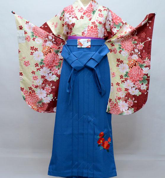 二尺袖 着物袴 フルセット 百花繚乱 卒業式に 新品 (株)安田屋 v676186246