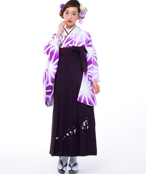 着物袴セット ジュニア用へ直し144cm~150cm 麻の葉柄 卒業式にどうぞ! 新品 (株)安田屋 l407112618