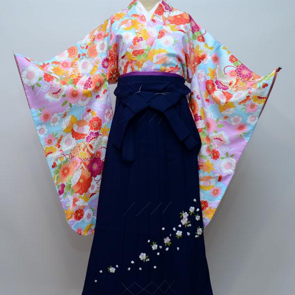着物袴セット ジュニア用 145cm~154cm 生地:日本製 卒業式にどうぞ! 新品 (株)安田屋 k227076066
