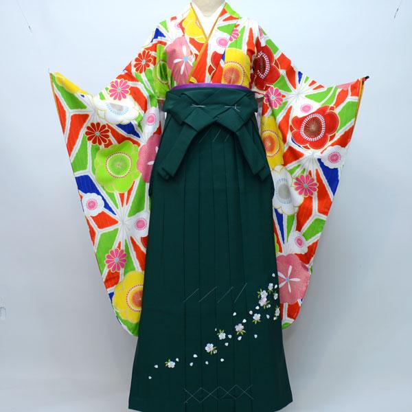 着物袴セット ジュニア用 145cm~154cm 生地:日本製 ブランド:Lako Kura 卒業式にどうぞ! 新品(株)安田屋 m176413628